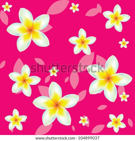 vector seamless pattern of flowers - stock vector