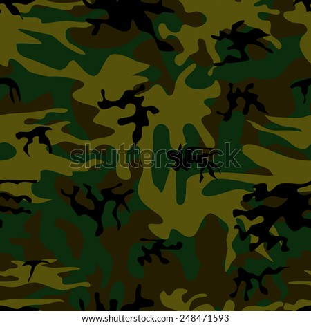 Vector seamless pattern of military camouflage. Repetitive military uniform texture. EPS10 abstract vector background. - stock vector