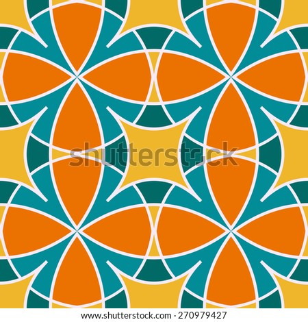 Vector seamless pattern. Seamless pattern can be used for wallpaper, pattern fills, web page background, surface textures. - stock vector