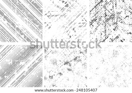 Vector Seamless Pattern. Seamless Texture with Grunge Elements. Grunge Stripes. Diagonal Lines Background. Vintage texture.  - stock vector