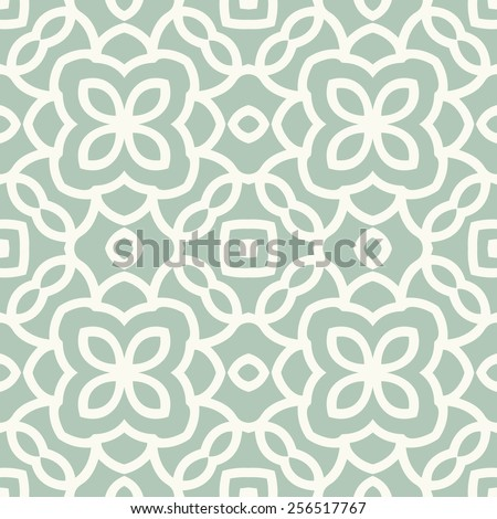 Vector seamless pattern. Stylish textile print with eastern geometric design. - stock vector