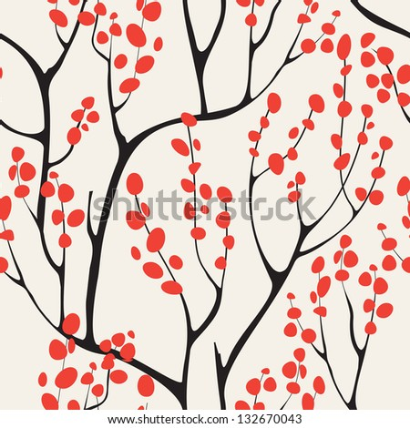Vector seamless pattern.Stylish texture. Endless floral background - stock vector