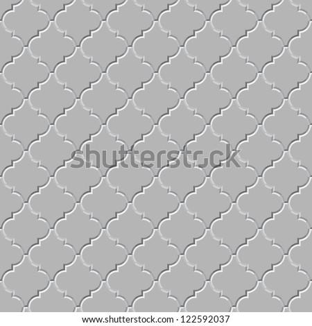 Vector seamless pattern - the gray concrete floor - stock vector