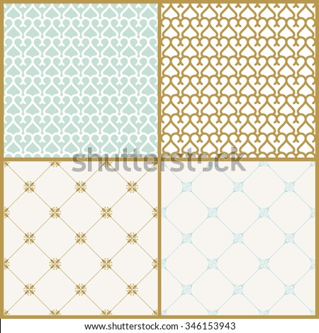 Vector seamless pattern with art ornament. Vintage elements for design in Victorian style. Ornamental lace tracery background. Ornate floral decor for wallpaper - stock vector