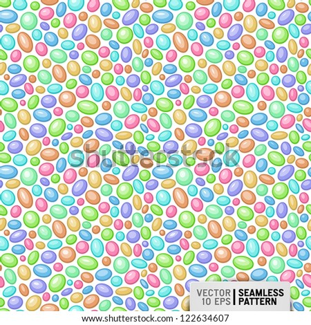 vector seamless pattern with candies - stock vector