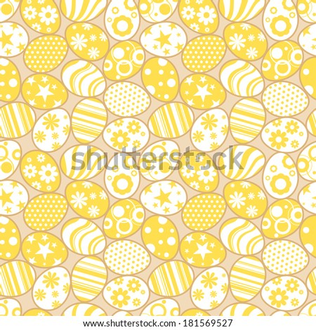 Vector seamless pattern with Easter eggs - stock vector