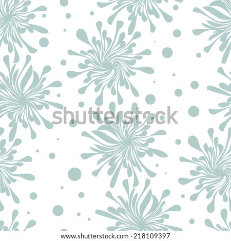 Vector seamless pattern with pastel spots. Modern repeating texture. Fancy print with stylized flowers - stock vector