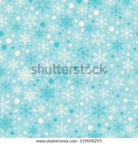Vector seamless pattern with snowflakes. Christmas Background. - stock vector