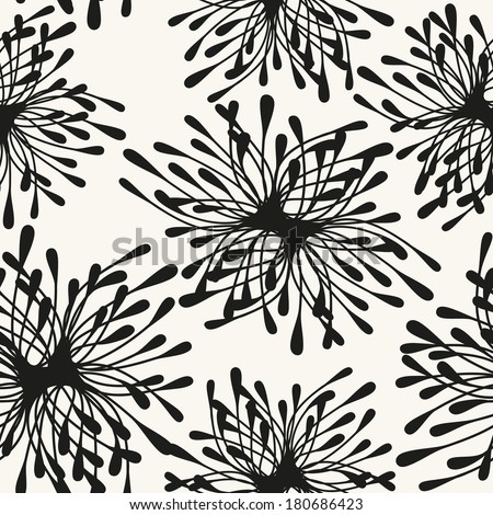 Vector seamless pattern with spots. Modern repeating texture. Fancy print with stylized flowers - stock vector