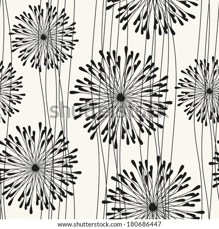 Vector seamless pattern with spots. Modern repeating texture. Fancy print with stylized flowers. - stock vector