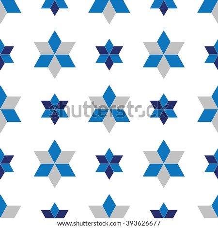 Vector seamless pattern with star of  david - stock vector