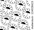 vector seamless pattern with umbrellas - stock vector