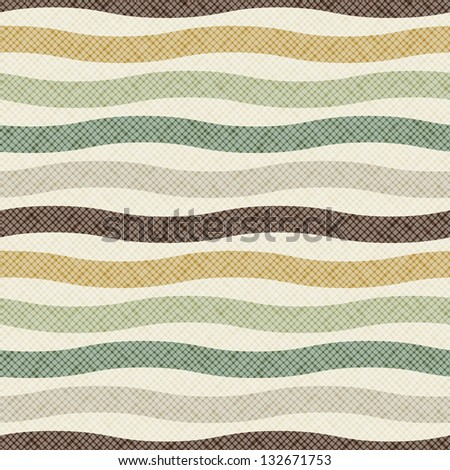 Vector seamless pattern with wavy stripes. Fabric stylish texture. Repeating pastel background - stock vector