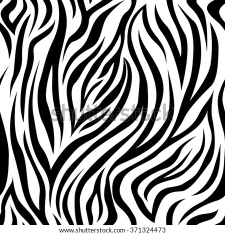 Vector seamless pattern with zebra stripes. Background, backdrop, print fabric. - stock vector