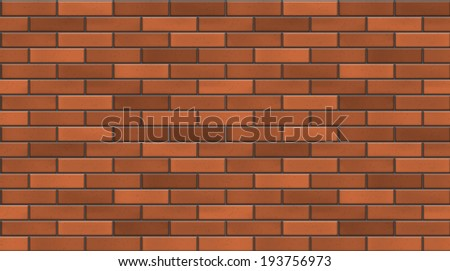 Vector seamless red brick wall texture. EPS10 vector background. - stock vector