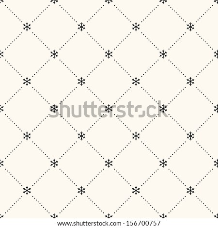 Vector seamless retro pattern, polka dot with snowflakes. Can be used for wallpaper, pattern fills, web page background,surface textures - stock vector