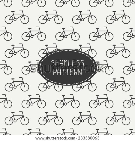 Vector seamless retro pattern with vintage hipster bicycle. For wallpaper, pattern fills, web page background, blog. Stylish texture. - stock vector