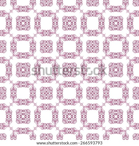 Vector seamless sample systematic dispersion not of symmetric elements - stock vector