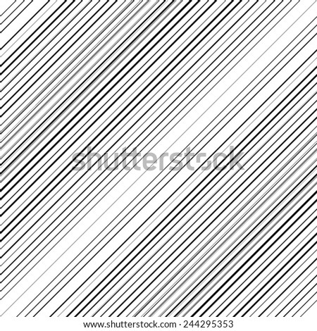 Vector Seamless Stripes Pattern . Abstract Black Diagonal Striped Background .  - stock vector