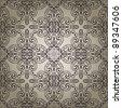 vector seamless vintage retro pattern - stock vector