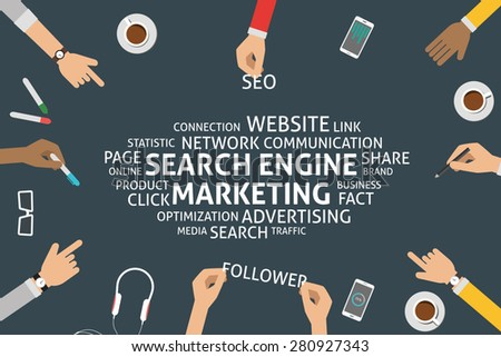 vector search engine marketing concept,template - stock vector