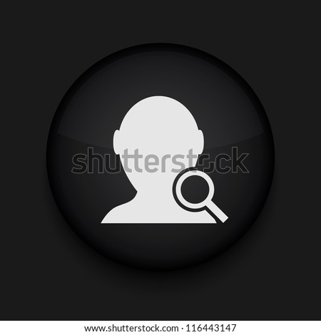 Vector search friend icon. Eps10. Easy to edit - stock vector