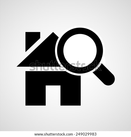 Vector searching for house - stock vector