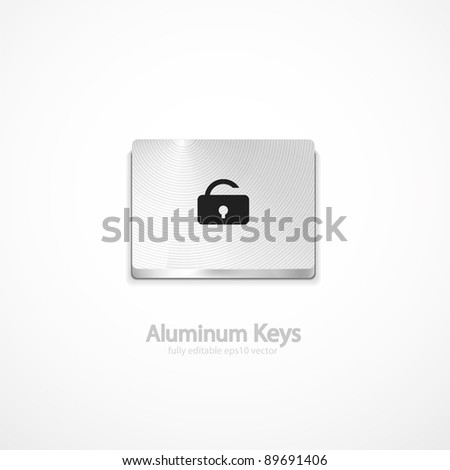 Vector security button - stock vector