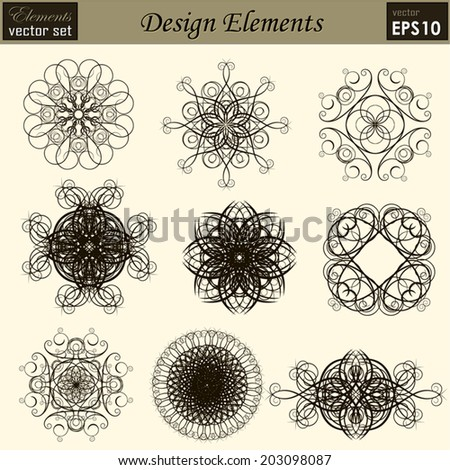 Vector set: calligraphic design elements and page decoration, Useful elements for your layout design. Premium Quality, Genuine and Satisfaction, Easy to Edit - stock vector