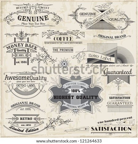 Vector Set: Calligraphic Design Elements and Page Decoration, Vintage Frame collection - stock vector