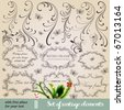 vector set: calligraphic vintage design elements and page decoration - lots of useful elements to embellish your layout. With snowflake and other christmas and New Year elements. - stock vector