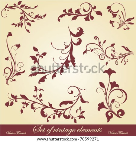 vector set: calligraphic vintage design elements and page decoration - lots of useful elements to embellish your layout. - stock vector