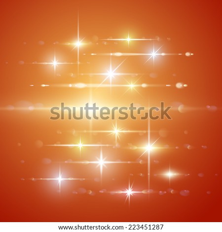 Vector set element light of lens effect. - stock vector