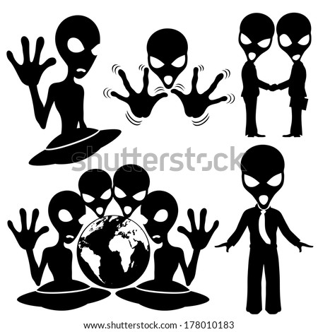 Vector set. Extraterrestrial. - stock vector