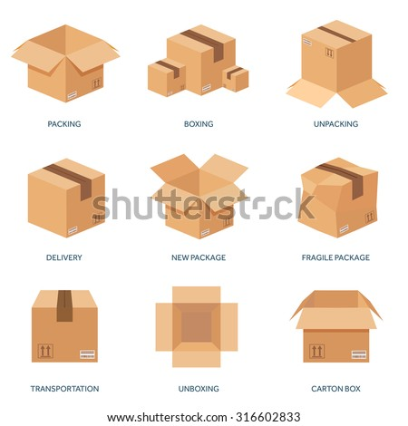 delivery box vector 2