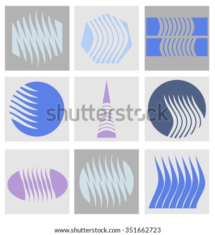 vector set for design - stock vector