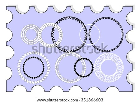 vector set for design 9 elements - stock vector