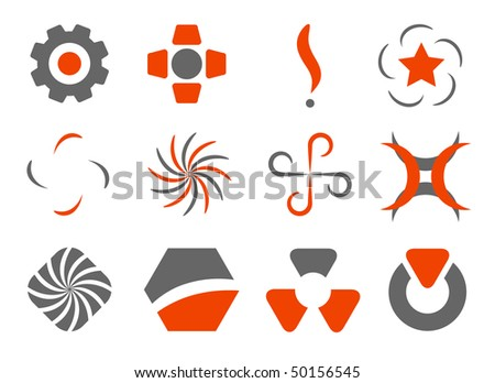 vector set of abstract design elements - stock vector