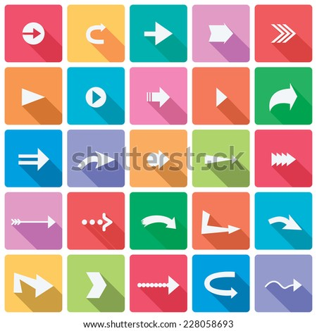 vector set of arrow icons - stock vector