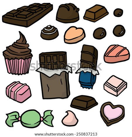 vector set of chocolate - stock vector