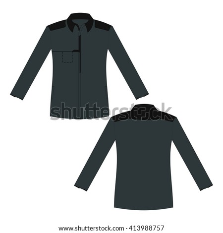 Vector set of clothes template, jacket - stock vector