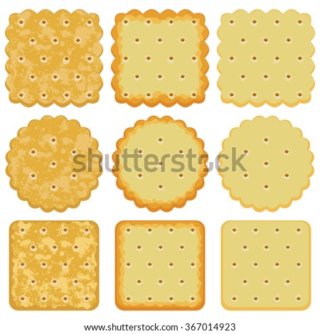 vector set of cracker chips - stock vector