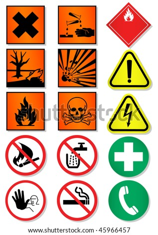 Vector set of different laboratory associated signs. All vector objects and details are isolated/grouped. Colors, shadow and background color are easy to customize. Symbols are replaceable. - stock vector