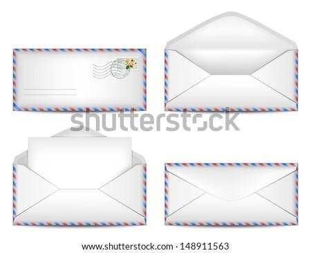 Vector set of envelopes. Eps10 - stock vector