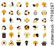 Vector set of environmental / recycling icons - stock vector