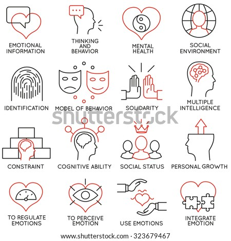 Vector set of 16 icons related to business management, strategy, career progress and business process. Mono line pictograms and infographics design elements - part 19 - stock vector