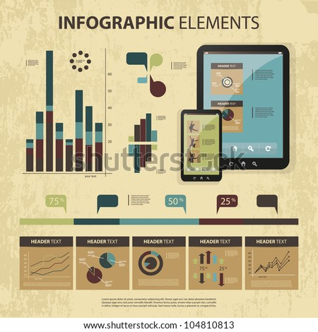 Vector set of infographic elements - stock vector