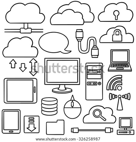 vector set of internet icon - stock vector