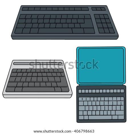 vector set of keyboard - stock vector