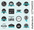 Vector set of labels - stock vector